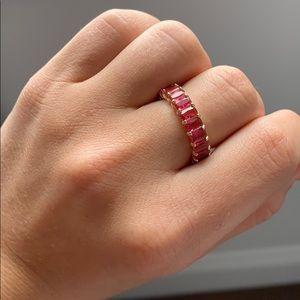 Adina's Jeweler pink baguette eternity ring band